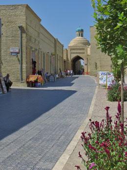 In der schönen Altstadt von Buchara.