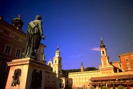tour em Salzburgo em português com Praça Mozart