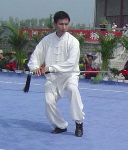 Schwertdemo von Chen Bing in Chenjiagou 2011