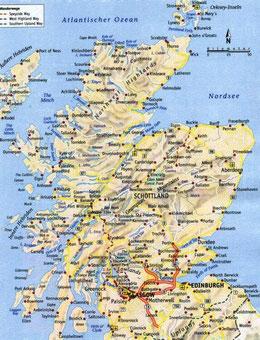 Schottland Karte Highlands.Schottland Aug 2015 Unser Fahrtenschreiber Die Wohnmobil Und