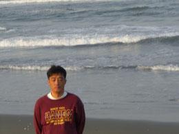 鹿島灘 海辺で瞑想