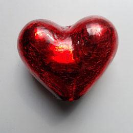 Großes rotes Herz - fotografiert von Dr. Eva Wlodarek