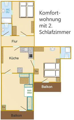 Komfortwohnung Typ Typ B (2 DZ)