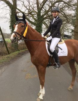 Antonia Gassner erfolgreich mit unserem Vereinspferd Fiona