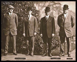Nella foto da sinistra Billy Evans, O'Loughlin, Bill Klem, e Jim Johnstone alle World Series del 1909