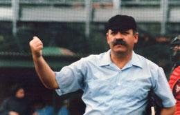 Nella foto l'autore degli articoli Michele Dodde in veste di Umpire