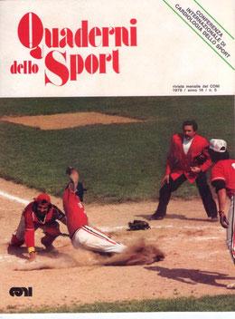 """La copertina di """"Quaderni dello Sport"""" edita dal CONI"""