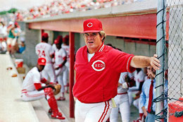 Pete Rose da Manager dei Reds (AP Photo/John Swart)
