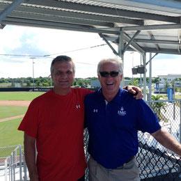 assieme a Kit Carlson responsabile sviluppo studenti/atleti baseball