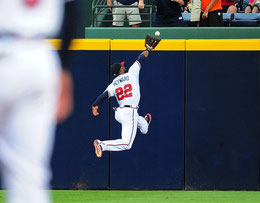 Nella foto Jason Heyward esterno dei Braves (Foto di Scott Cunningham/Getty Images North America)
