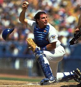 """Nella foto """"MiKe"""" Scioscia quando era ricevitore in MLB"""