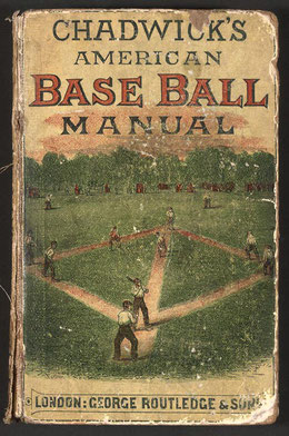 Un'antica copertina del manuale per il Base Ball di Herry Chadwick National Association of Amateur Base Ball Players