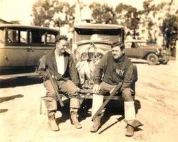 Nella foto Babe Ruth a dx e Marshall Hunt a sx