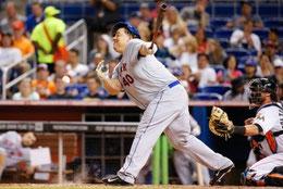 Il pitcher Bartolo Colon con il suo pessimo swing