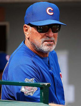 Nella foto Joe Maddon, Chicago Cubs (Getty Images)