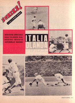 Una pagina del settimanale Sport Olimpici anno 1967