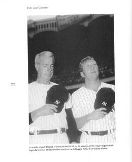 La pagina 102 con Joe Di Maggio e Mickey Mantle