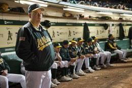 L'attore Philip Seymour Hoffman nel ruolo del manager Art Owen in Moneyball