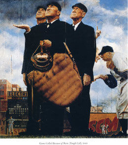Game Called Because of Rain - Norman Rockwell 1948