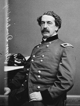 Nella foto Abner Doubleday che nonostante gli sforzi di Spalding non inventò il baseball