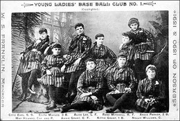La prima immagine di baseball femminile risale al 1890-1891 (National Baseball Hall of Fame Library, Cooperstown, NY)