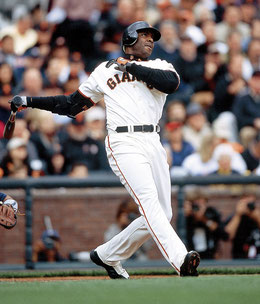 Nella foto Barry Bonds con i San Francisco Giants