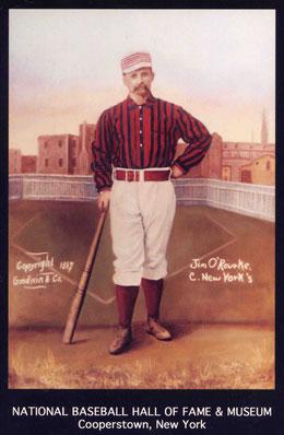 Nell'immagine Jim O'Rourke giocatore dei Boston Red Caps (1876)
