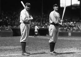 Nella foto Babe Ruth e Ty Cobb