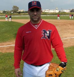 Nell'immagine Frank Menechino quando giocò per il Nettuno (Foto da Nettuno Baseball Club)