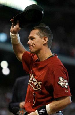 Nella foto Craig Biggio ha giocato per gli Astros per 20 stagioni (1988-2007) nei ruoli di: Catcher, seconda base,  esterno sinistro, centro, destro e terminando con .983 di media difesa e .281 in media battuta (Photo: Karen Warren, Staff)