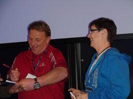 Nella foto Giovanna Armani con Ron Wolforth