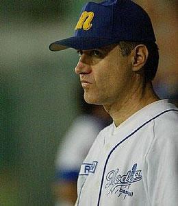 Mauro Paglioli con la divisa del Modena quando era il Manager (Foto tratta dal sito www.baseball.it)