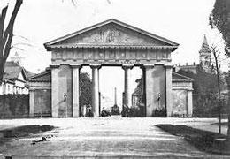 Ettlinger Tor ca. 1860