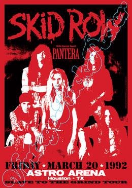 skid row, skid row poster, skid row concert, skid row houston, pantera