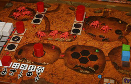 Spielertafel als Ameisenbau