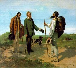 Courbet La rencontre ou Bonjour Monsieur Courbet