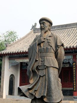 Statue de Chen Wangting devant le musée de Chenjiagou