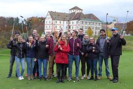 Sportmanagementstudenten beim Golf Club Schloss Langenstein