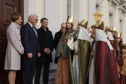 Foto: Höhepunkt der Sternsingeraktion zu Jahresbeginn 2018 war für die Sternsinger aus dem Bistum Eichstätt der Besuch beim Bundespräsidenten. pde-Foto: Anika Taiber-Groh.