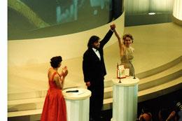 Sharon Stone remet la palme d'Or à Emir Kusturica - Festival de Cannes 1995