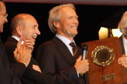 Festival Lumière à Lyon en 2009, avec Clint Eastwood, en invité d'honneur
