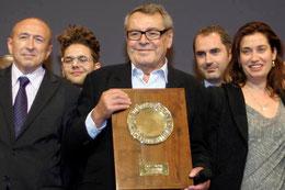Festival Lumière à Lyon en 2010, avec Milos Forman, en invité d'honneur