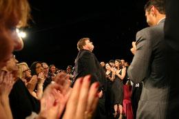 Sydney Poitier et Tom Hanks - Festival de Cannes 2006