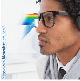 Publicité lunettes anti-lumière bleue