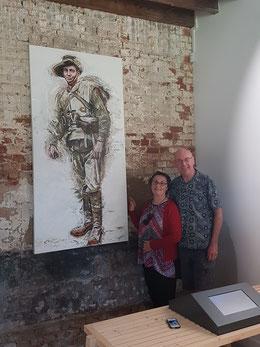Gina et Neil peinture de George Petrou