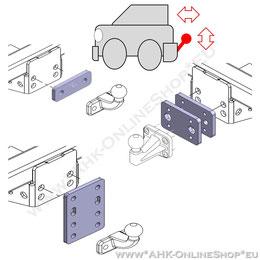 Adapter für Anhängevorrichtung - Höhe und Abstand anpassen