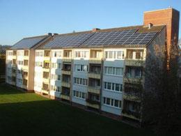 Eine unserer Solaranlagen in der Hamelner Heinestraße