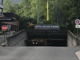 Unterführung zum Hotel Spessart