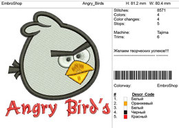 Детская вышивка-Angry Birds
