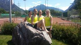 Unser Damenteam mit elena Jenny, Julia Knauer, Vanessa Amann und Florina PLazonik